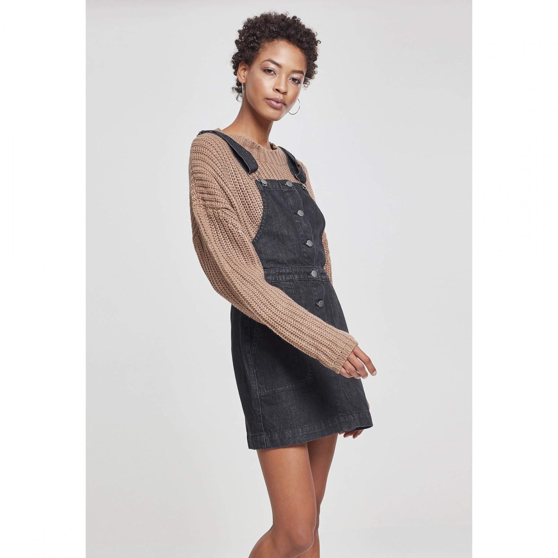 Damen Urban Classic Denim Latzhose Kleid