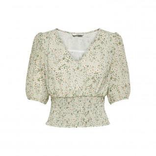 Damen-T-Shirt Only onlmille mini maria-flower smock