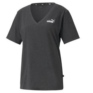 Damen-T-Shirt Puma ESS V-Neck Heather