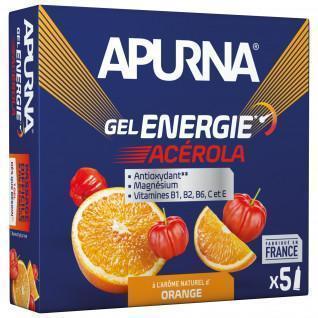 Partie mit 5 Gels Apurna Energie Acerola Orange - 35g