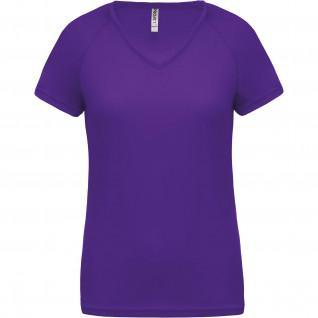 Proact Sport Damen T-Shirt mit V-Ausschnitt