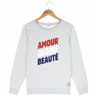 Sweatshirt Rundhalsausschnitt Frau French Disorder Amour gloire beauté